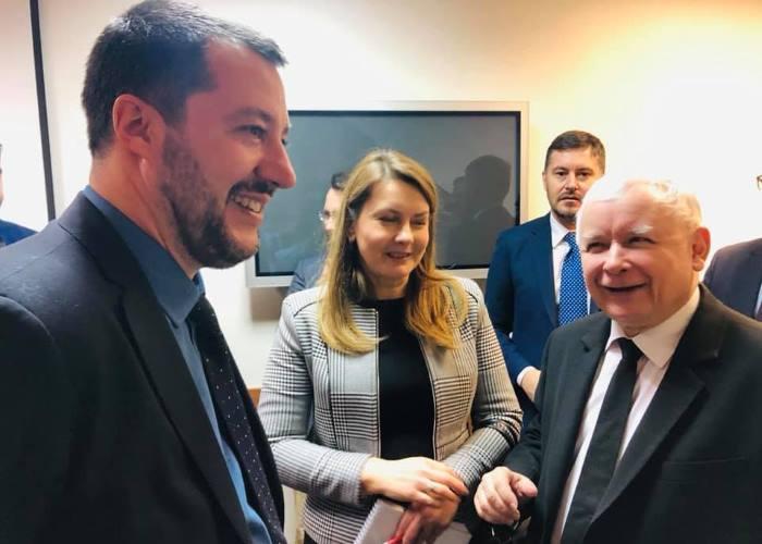 Polonia, Salvini incontra il leader ultranazionalista Kaczynski in vista delle Europee