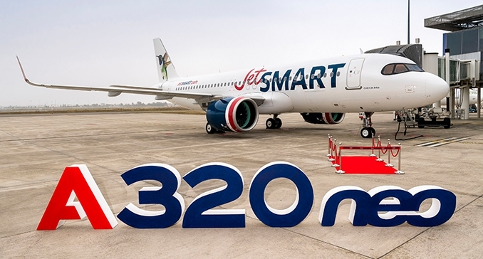 JetSMART receives first Airbus A320neo aircraft powered by Pratt & Whitney GTF Engines)