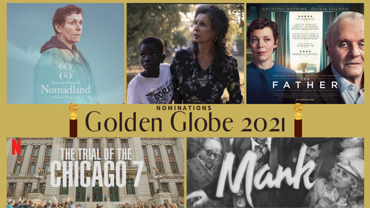 Golden Globe 2021: l'Italia conquista 2 nominations. Mank e The Trial of the Chicago 7 sfidano Nomadland