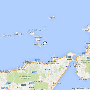 Isole Eolie, terremoto Ml 2.6 del 09-05-2016 ore 01:42