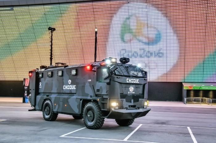 Un veicolo corazzato super-attrezzato garantisce la sicurezza ai giochi di Rio