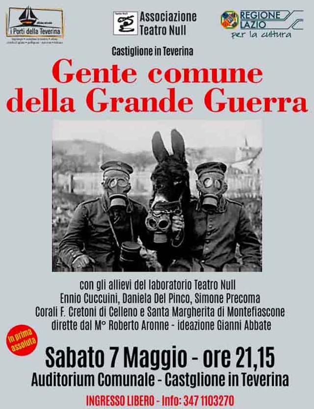 A Castiglione in Teverina arriva la Grande Guerra