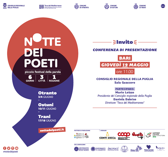 Presentazione a Bari della Notte dei Poeti - Piccolo Festival della Parola