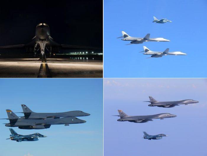 Gli Usa inviano due bombardieri sui cieli della Corea in risposta ai test missilistici della Corea del Nord