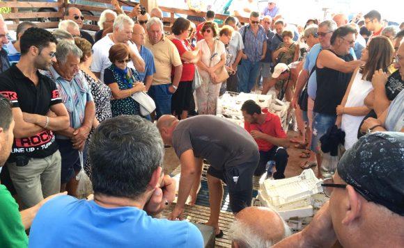 L'asta del pesce a Marinella di Selinunte, un vero spettacolo