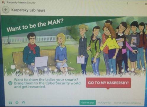 Kaspersky azienda per la sicurezza informatica si è scusato per la sua pubblicità sessista (foto)