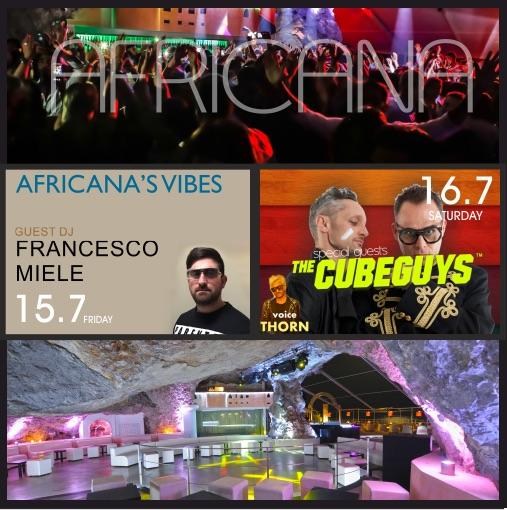 15/7 Africana's Vibes, dj Francesco Miele, N-Zino @ Africana Famous Club Praiano (SA):
