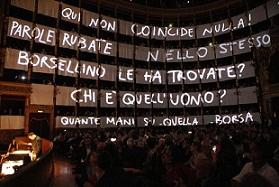 """Palermo: Il Teatro Massimo si veste di lenzuoli per lo spettacolo """"Le parole rubate"""""""