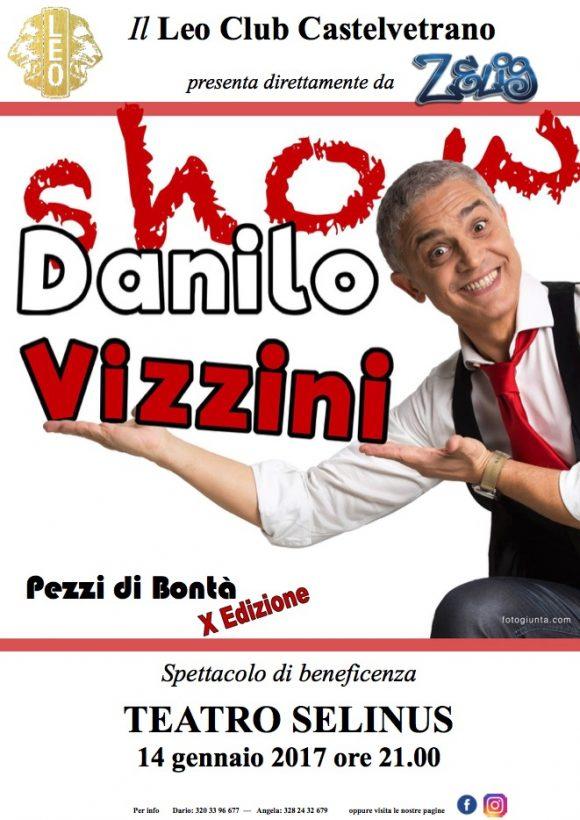 Danilo Vizzini da Zelig al Selinus per lo Show del Leo Club