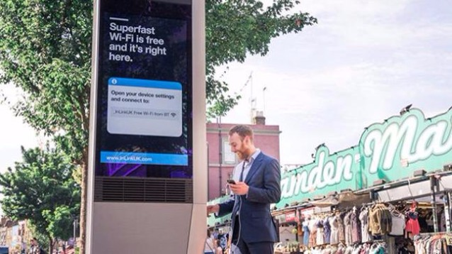 Google porta le sue cabine telefoniche smart InLinks anche a Londra