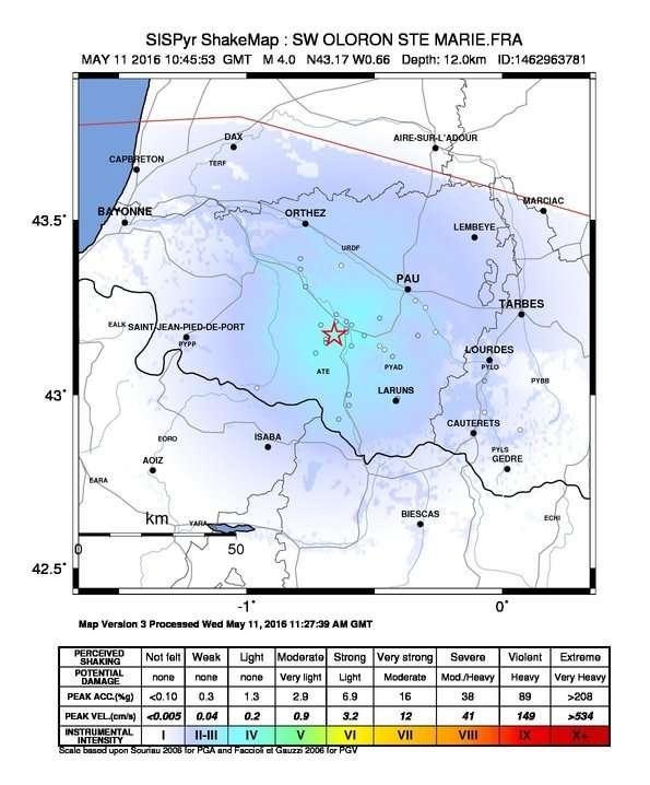 Tremblement de terre de magnitude 4,2