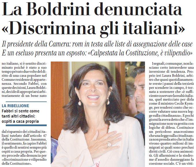 Purtroppo l'Italia sta vivendo un Razzismo inverso, creato dai Politici di Sinistra.