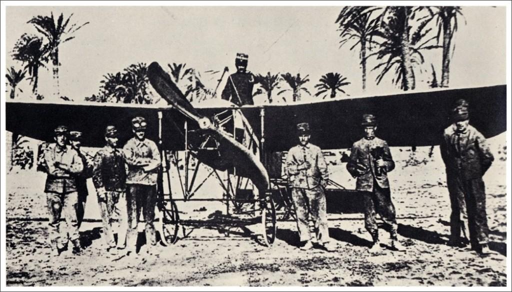 23 ottobre 1911: La prima di un aereo italiano nella guerra di Libia