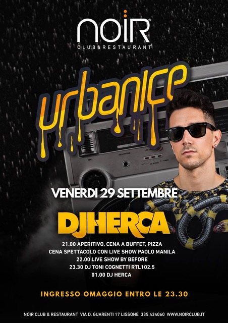 Noir club & restaurant - Lissone (MB): 28/9 Blu Beach Party, 29/9 Dj Herca