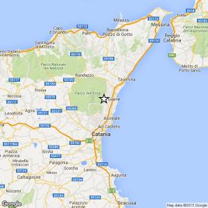 Sicilia, terremoto Ml 2.6 il 19-02-2017 ore 03:38 in provincia Catania