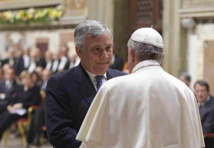 Antonio Tajani ringrazia il Papa per la lezione ricevuta venerdì scorso dai rappresentanti dell'UE