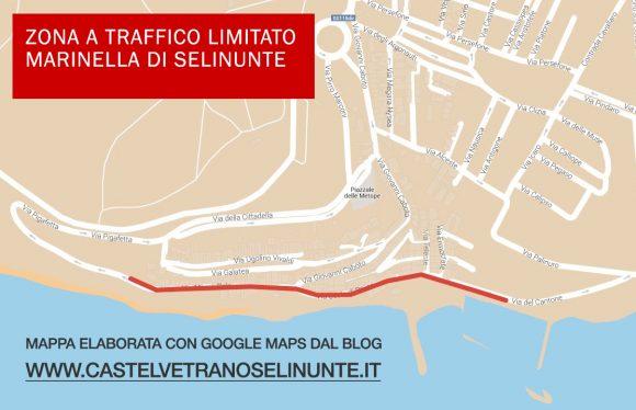 ZTL a Marinella di Selinunte. La mappa da stampare