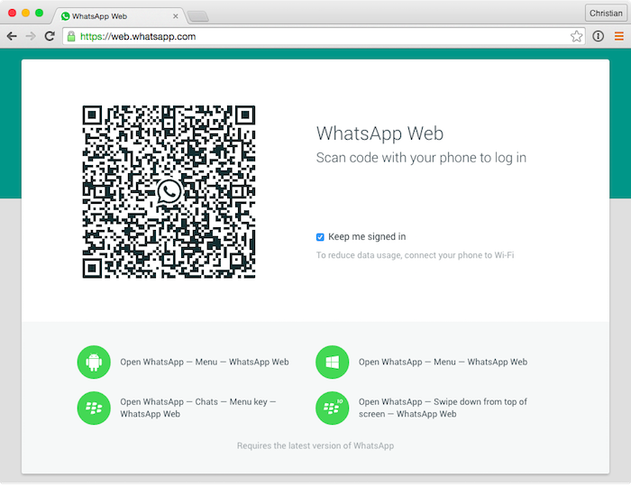 WhatsApp Web introduce l'invio di documenti