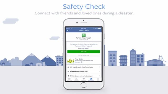 Facebook introduce nuove funzioni nel Safety Check: ecco quali