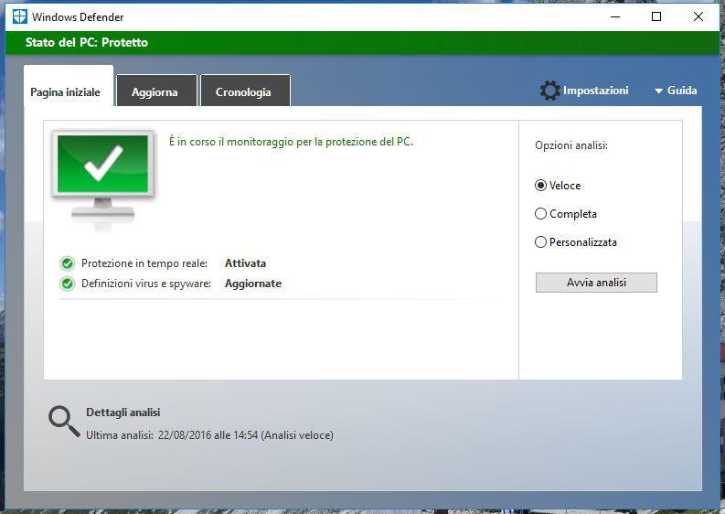 Come funziona Windows Defender su Windows 10, come utilizzarlo al meglio