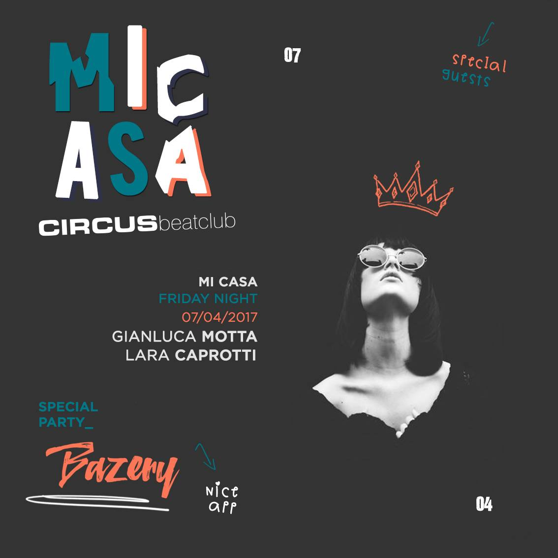 7/4 Gianluca Motta, Lara Caprotti @ Circus beatclub - Brescia Mi Casa