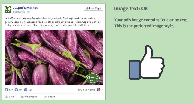 Nuove regole per i testi sulle immagini nelle campagne Facebook Ads