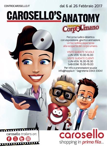 Carosello's Anatomy, alla Scoperta del Corpo Umano: un percorso ludico didattico a cui parteciperanno oltre 2.000 bambini