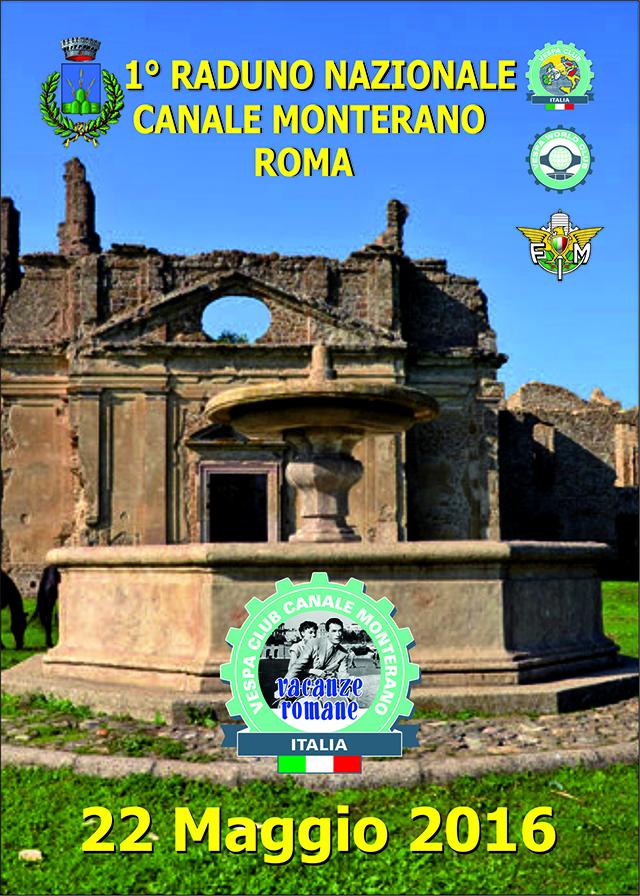 Il 22 Maggio a Canale Monterano 1° Raduno Nazionale del Vespa Club Vacanze Romane