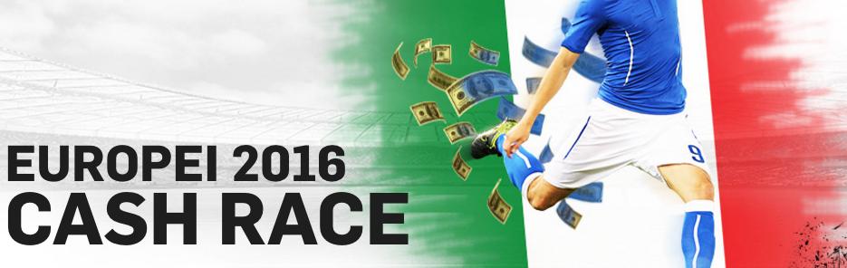 Cash Race Europei 2016: più giochi più bonus ottieni