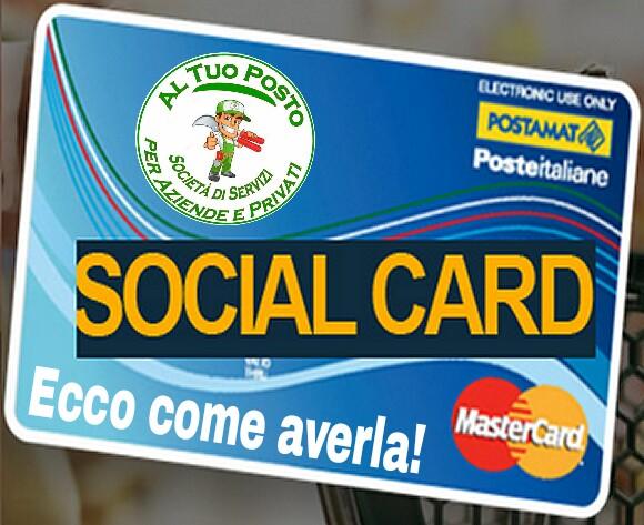 Social card disoccupati, ecco come fare per ottenerla. di Luigi Falché