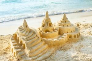 Un'attività di team building da spiaggia