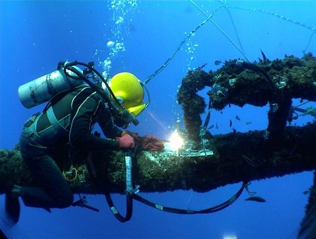 Saldare sott'acqua