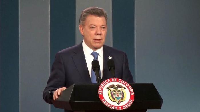 Il presidente della Colombia Juan Manuel Santos insignito del Nobel per la pace per i negoziati con le FARC