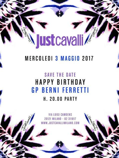 3/5 Giampaolo Berni Ferretti festeggia al Just Cavalli Milano