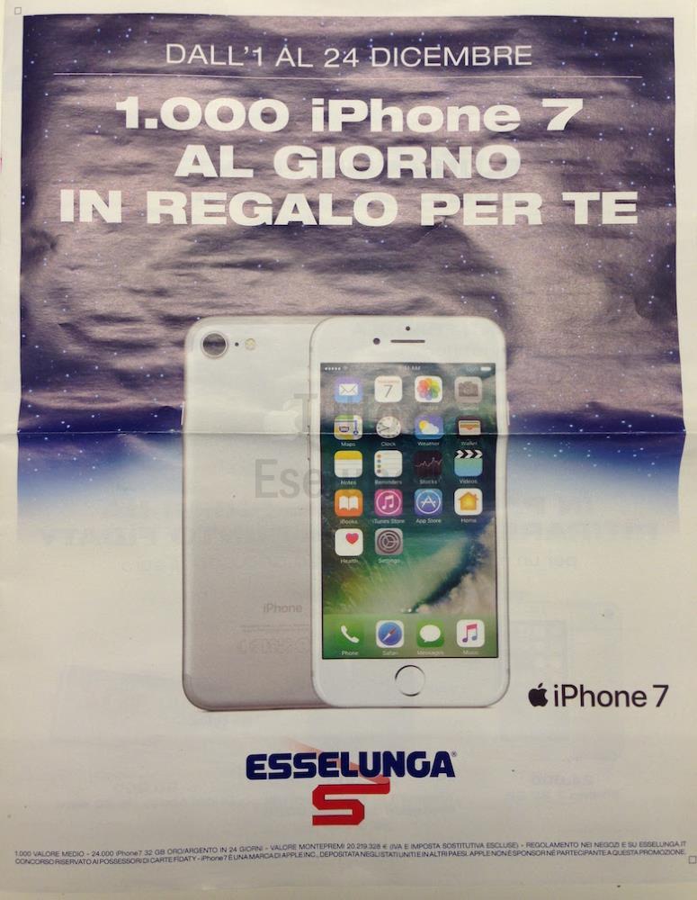 1000 iPhone in regalo con la nuova promozione Esselunga di Natale