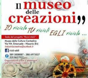 """Nissoria: promotore del """"il museo delle creazioni"""""""