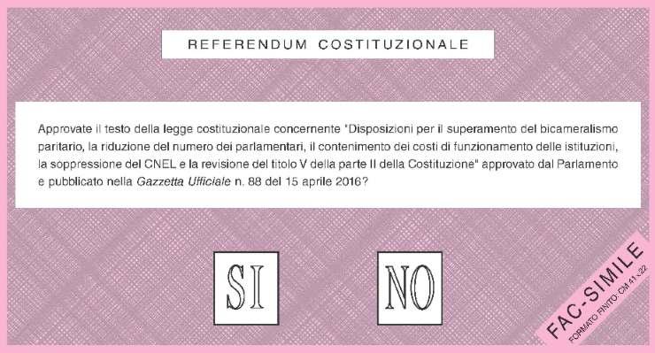 Referendum costituzionale, 4 dicembre 2016. Percentuale dei votanti e proiezioni di voto
