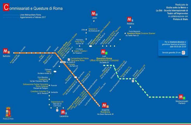Importante iniziativa de La Siti, contro la violenza sulle donne, in collaborazione con la Polizia Di Stato: mappa dei commissariati a Roma