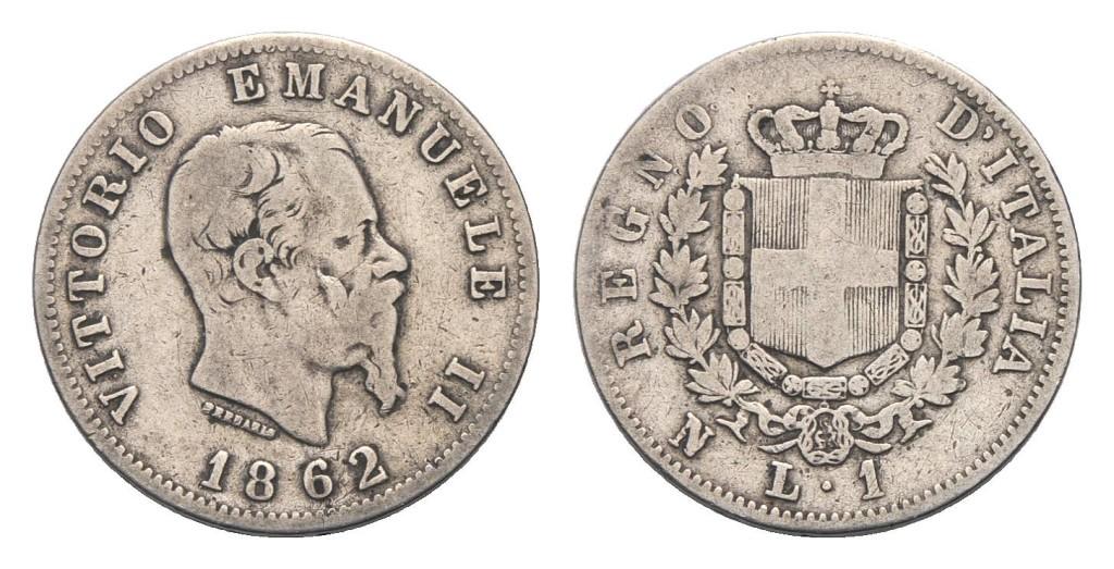 24 agosto 1862: La Lira italiana unica moneta del Regno d'Italia