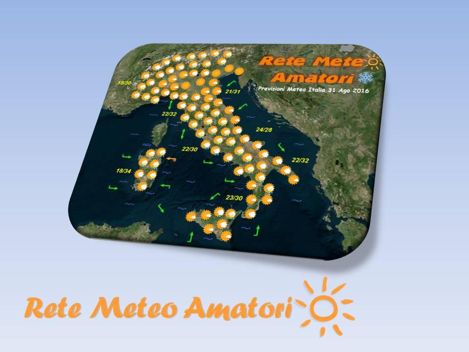 Previsioni Meteo Italia per il 29 Settembre 2016