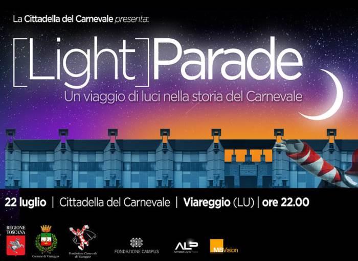 Light Parade, a Viareggio il 22 luglio uno spettacolo di luci per raccontare il Carnevale e la sua storia