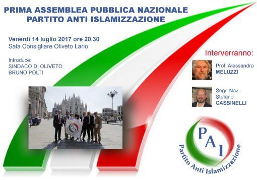 Prima assemblea nazionale PAI - Partito Anti Islamizzazione a Oliveto Lario
