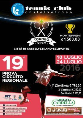 Tennis. Fase finale del torneo Open Città di Castelvetrano:
