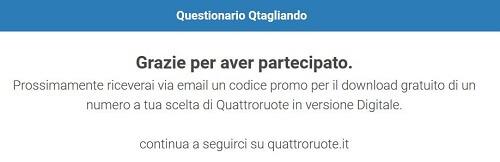 Partecipa al sondaggio Qtagliando. Per te un regalo da Quattroruote