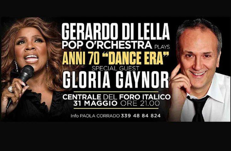 La grande disco anni 70 live, al foro Italico di Roma, con Gloria Gaynor come guest star