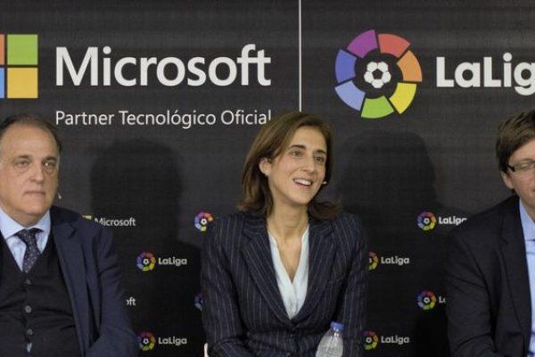 LaLiga e Microsoft: insieme per il calcio