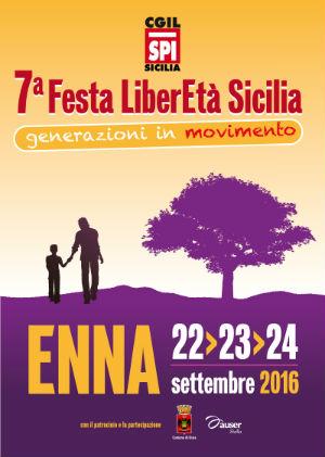 """Ad Enna la """"Festa della LiberEtà"""" della Cgil pensionati"""