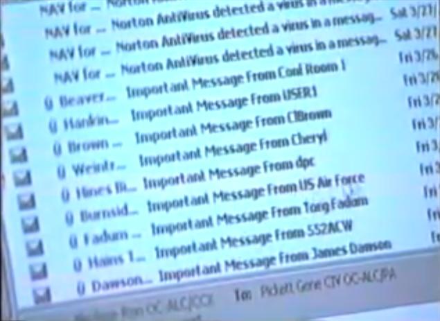 26 marzo 1999: Viene diffuso in rete il macro virus Melissa