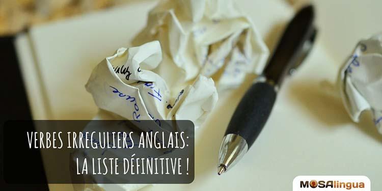 La liste définitive des verbes irréguliers anglais – eBook gratuit