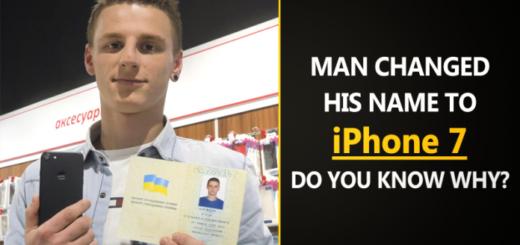 """Quest'uomo ha cambiato il suo nome in """"iPhone 7"""""""